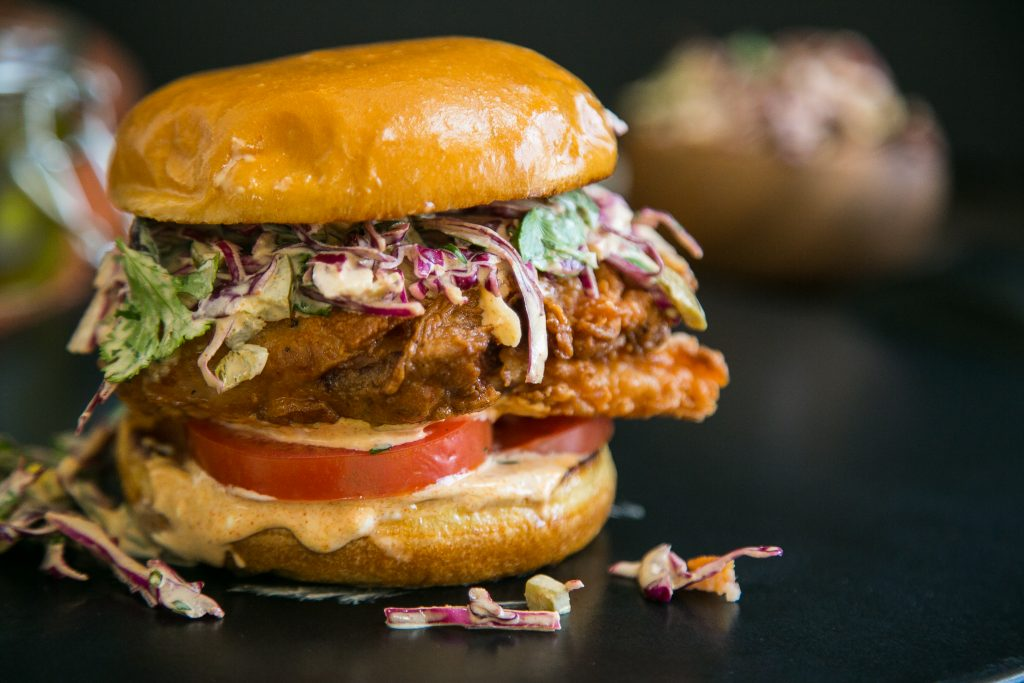 Fried Chicken Burgers With Pickled Jalape 241 O Slaw The Chutney Life
