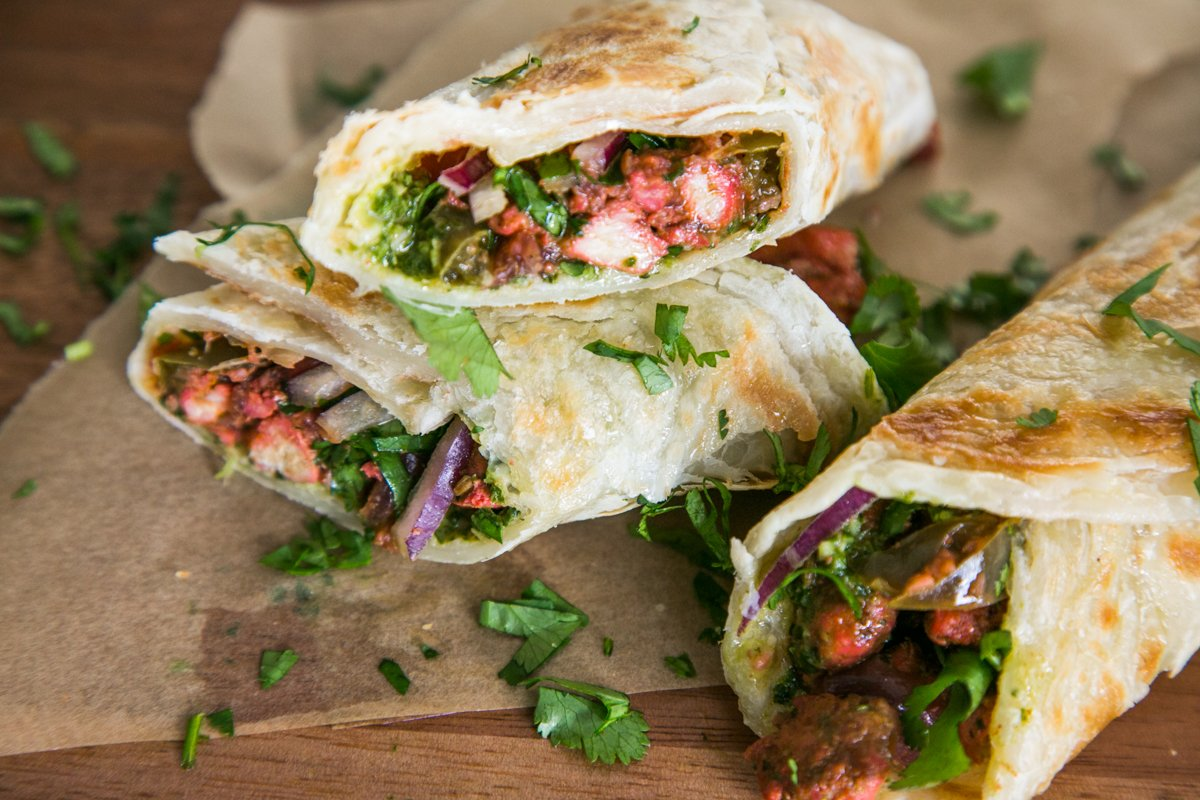 Chicken kathi rolls w cilantro mint chutney the chutney life im not sure why im just now sharing this recipe but if you follow me on instagram you know how often i make these they are so irresistible forumfinder Image collections
