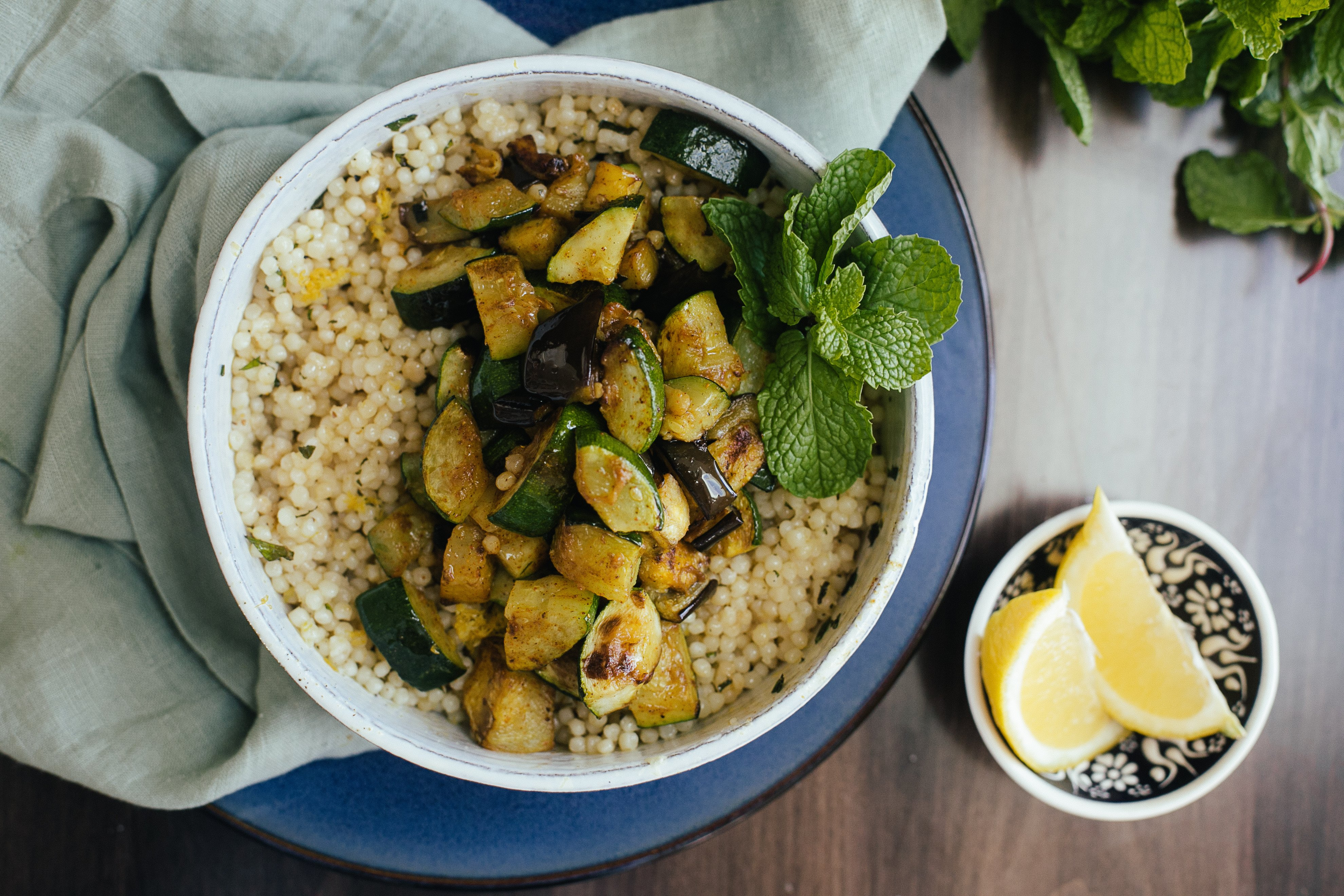 85c6a83dd365 As much as I love SPICY Indian inspired food, sometimes I like more simple,  subtle and fresh flavors. This cous cous is a perfect example of how a  little ...