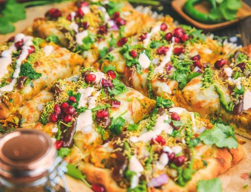 Samosa Chaat Pizza