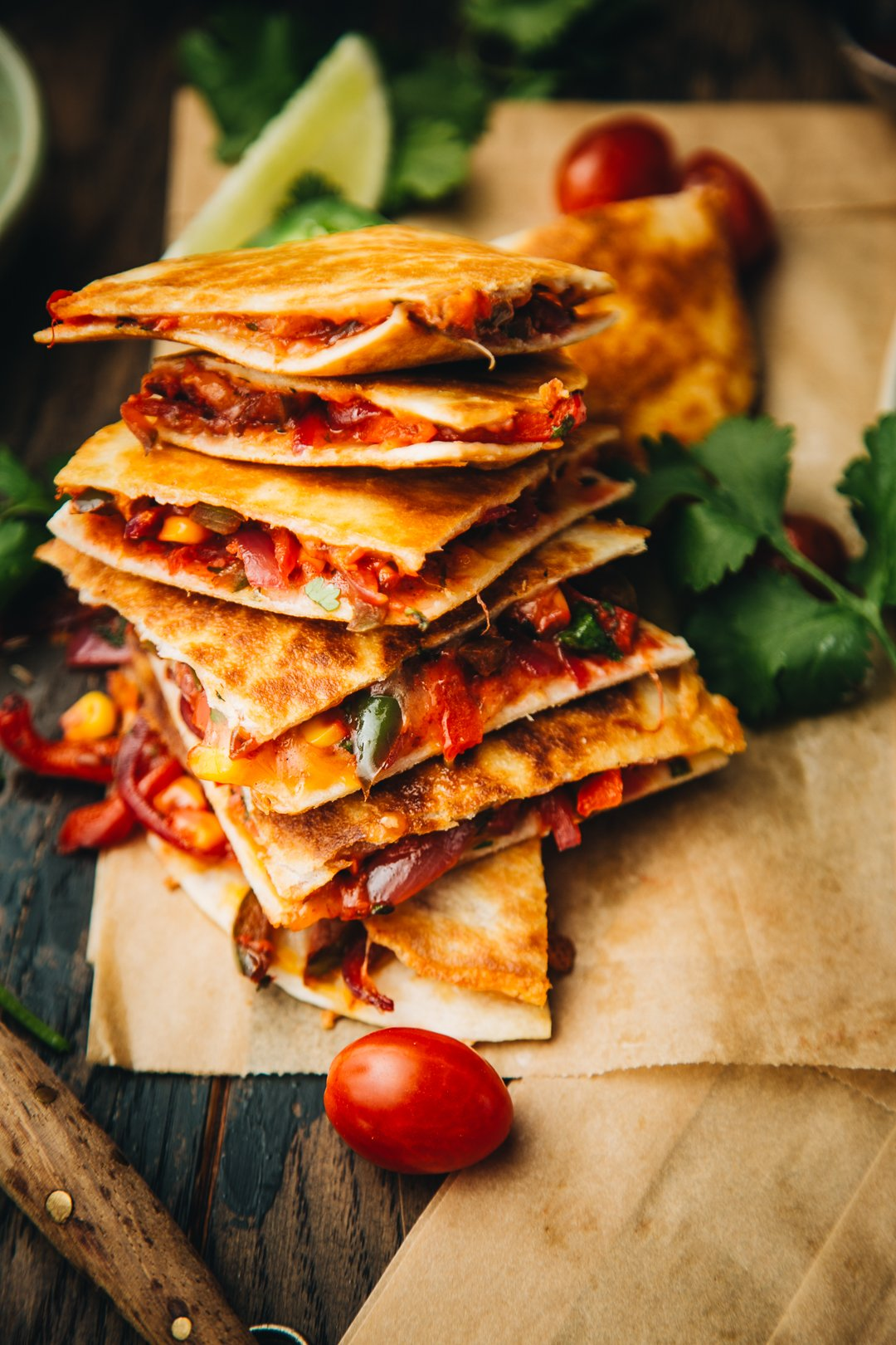 Tandoori Veggie Quesadillas The Chutney Life