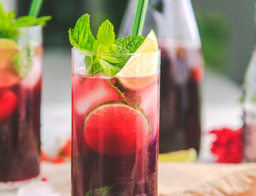Pomegranate Ginger Mojitos