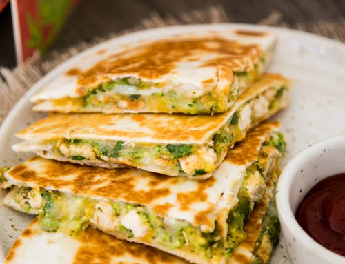 Quick Chicken & Broccoli Quesadillas